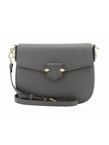 Sèvres | Grey large flap bag